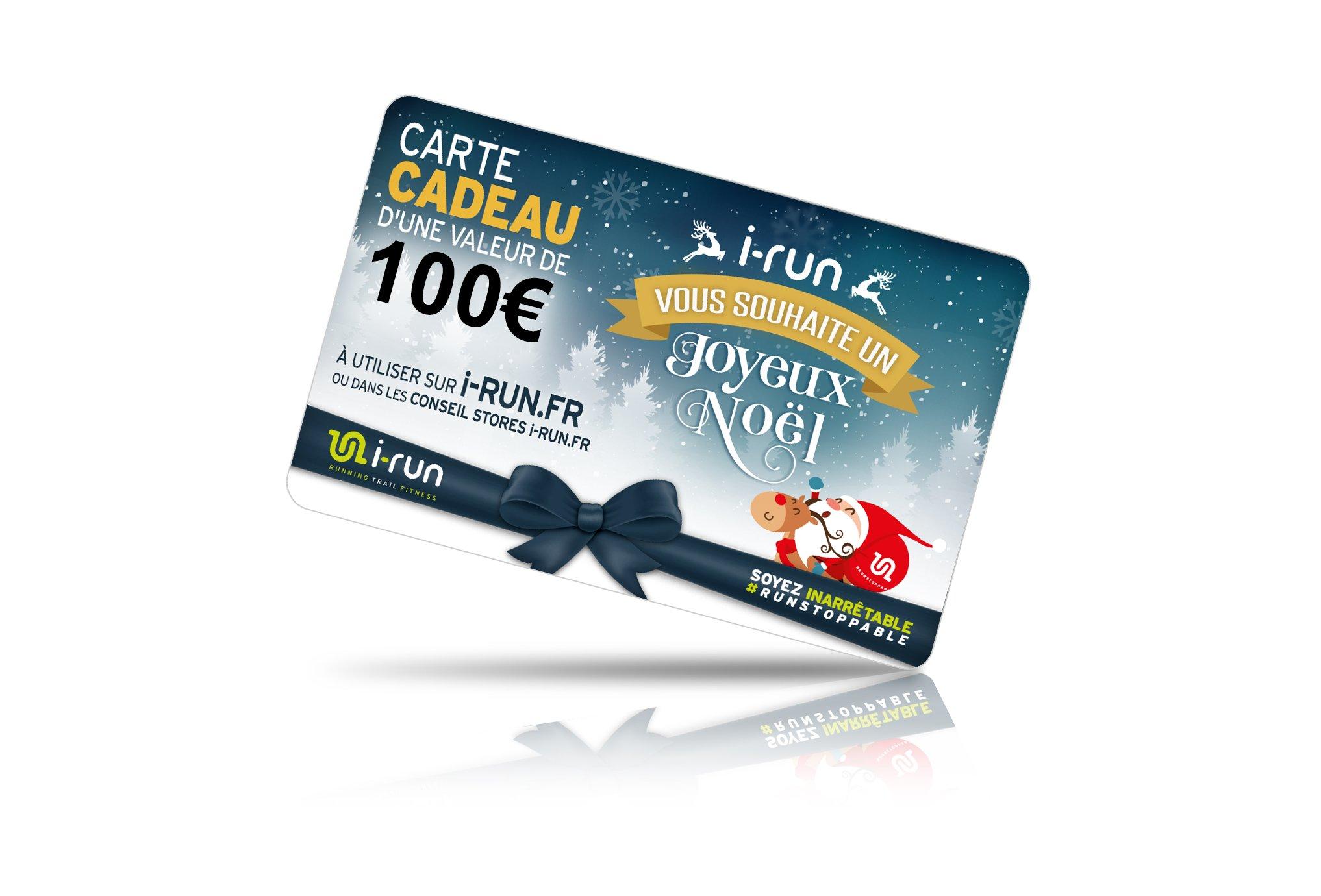 i-run.fr Carte Cadeau 100 Spéciale Noël Cartes Cadeau