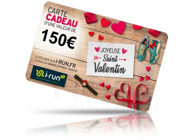 i-run.fr Carte Cadeau 150 Saint Valentin