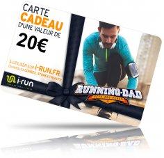 i-run.fr Carte Cadeau 20 Fête des Pères