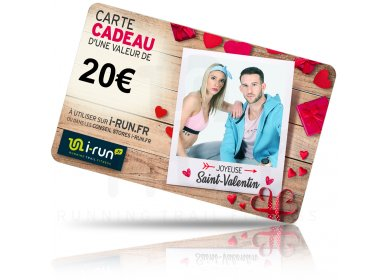 i-run.fr Carte Cadeau 20 Saint Valentin