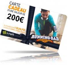 i-run.fr Carte Cadeau 200 Fête des Pères