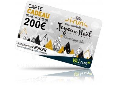 i-run.fr Carte Cadeau 200 Spéciale Noël