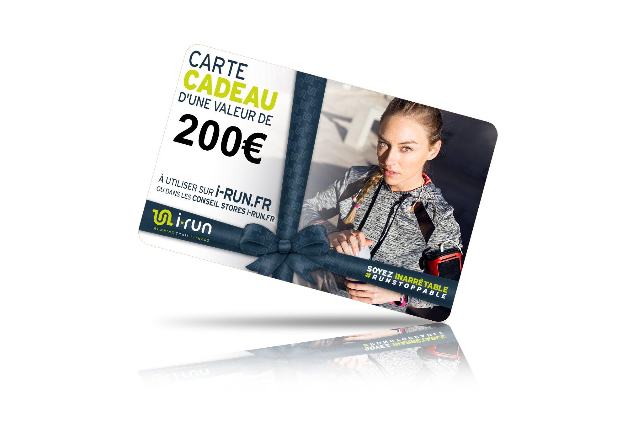 I-Run.Fr Carte cadeau 200 w cartes cadeau