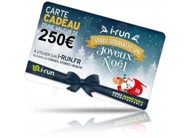 i-run.fr Carte Cadeau 250 Spéciale Noël