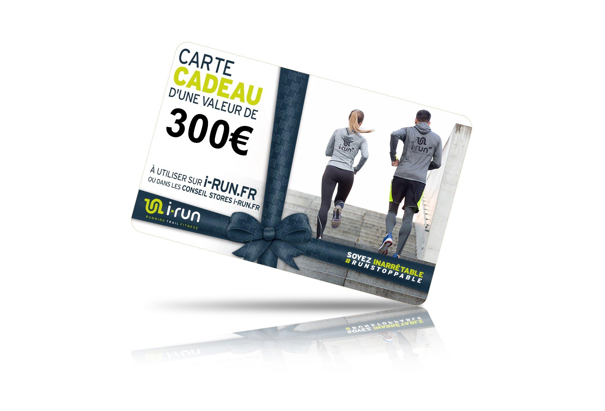 I-Run.Fr Carte cadeau 300 cartes cadeau