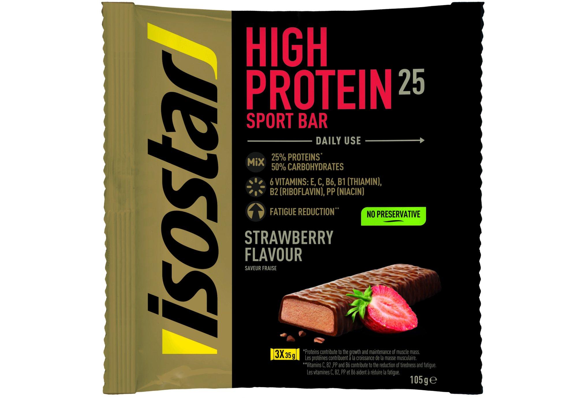 Isostar Barres High Protein 25 - Fraise Diététique Protéines / récupération