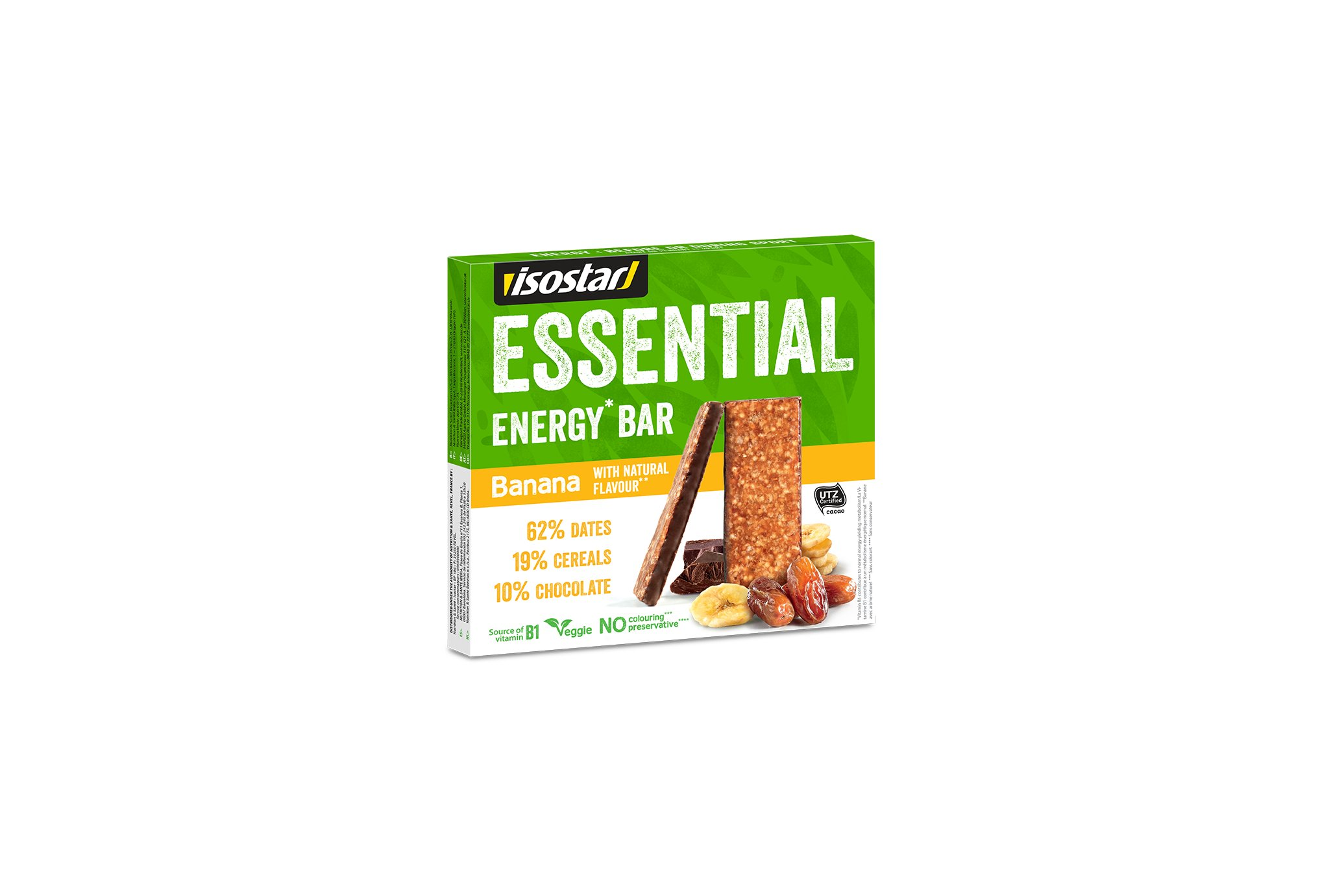 Isostar Pack barritas Essential Bar - Banana Diététique Barres