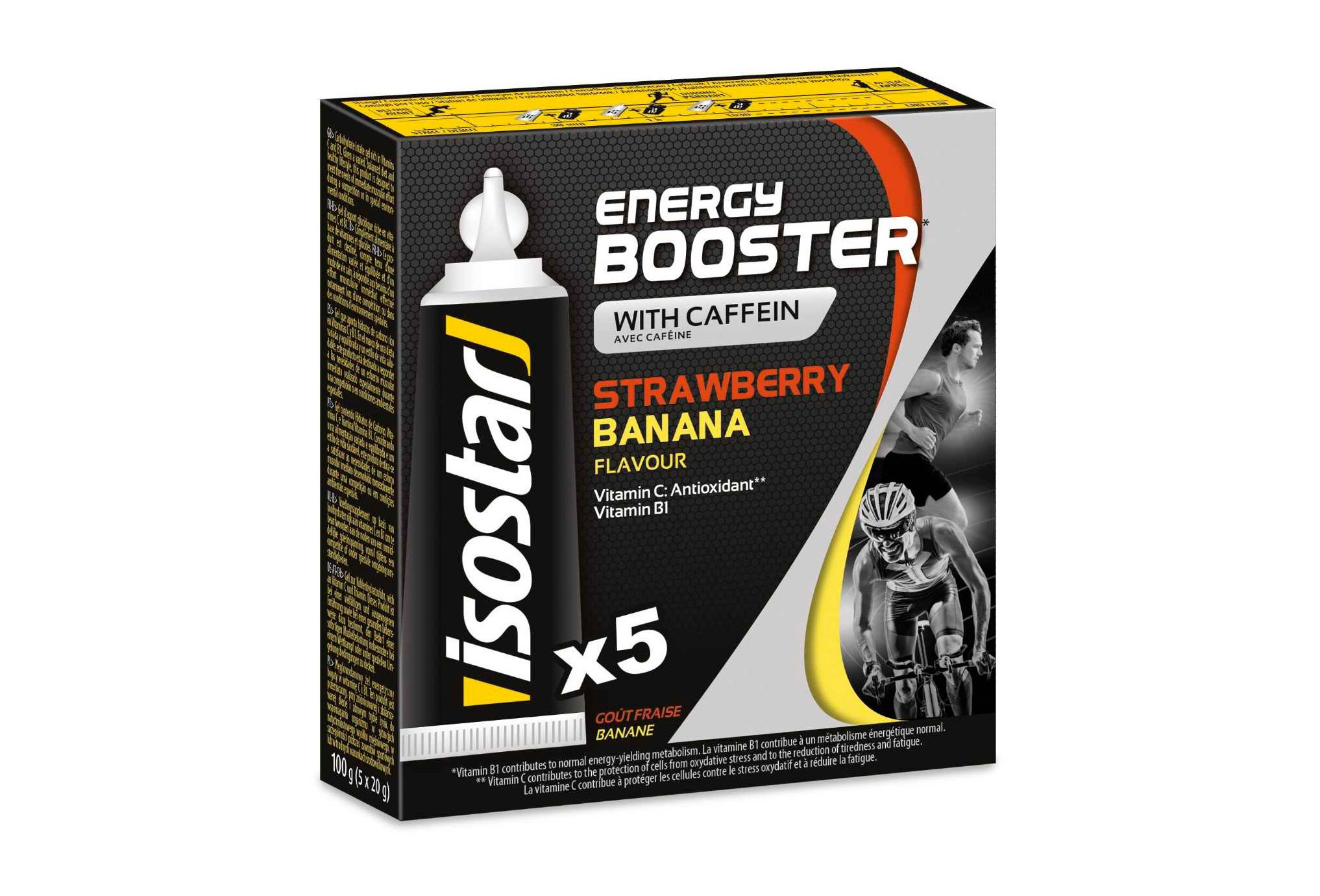 Isostar Pack Gel Energy Booster Fresa-Banana Diététique Gels