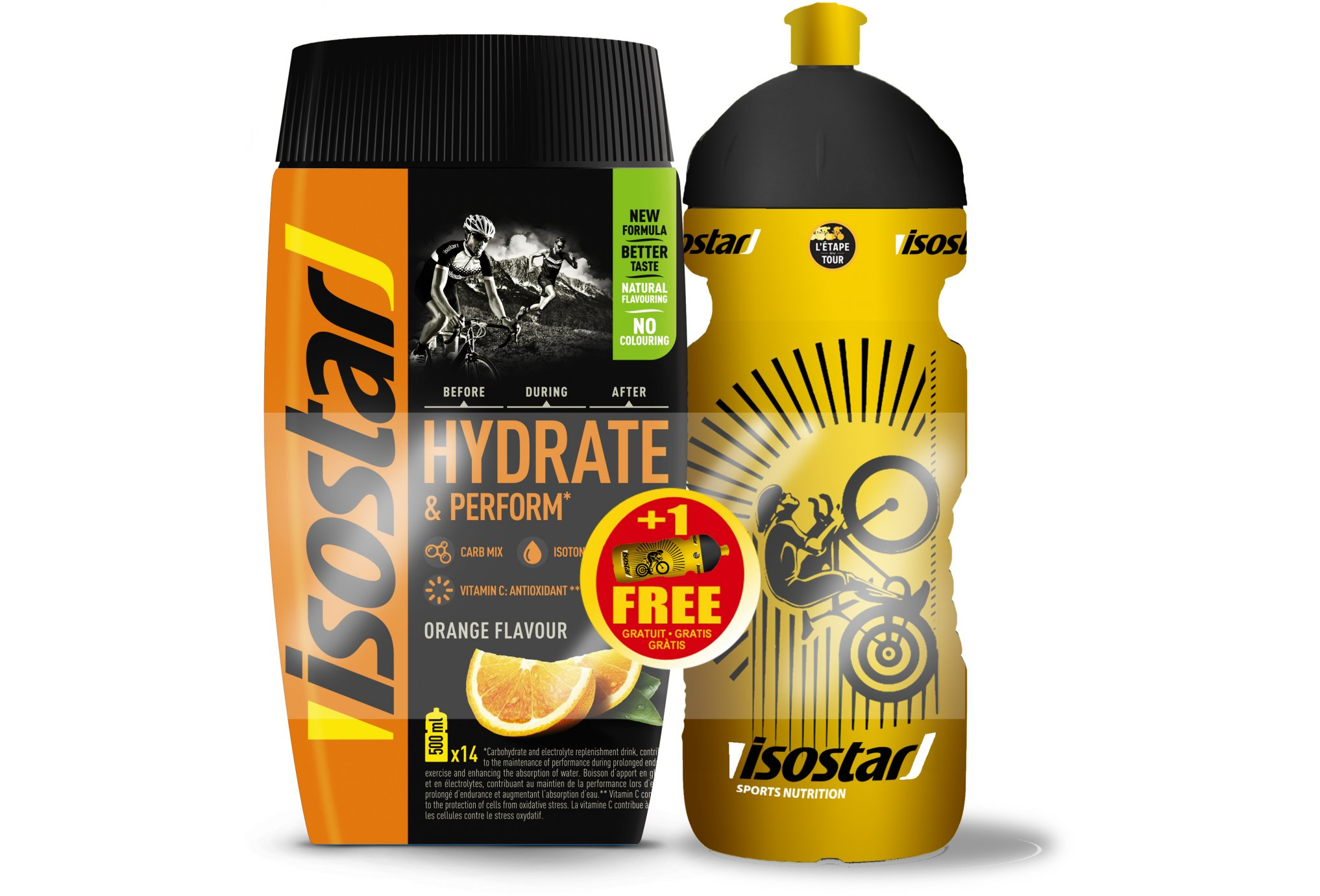 Isostar Pack Hydrate & Perform + Gourde offerte - Orange Diététique Boissons