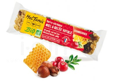 MelTonic Barre céréales Bio - Cranberries et noisettes grillées