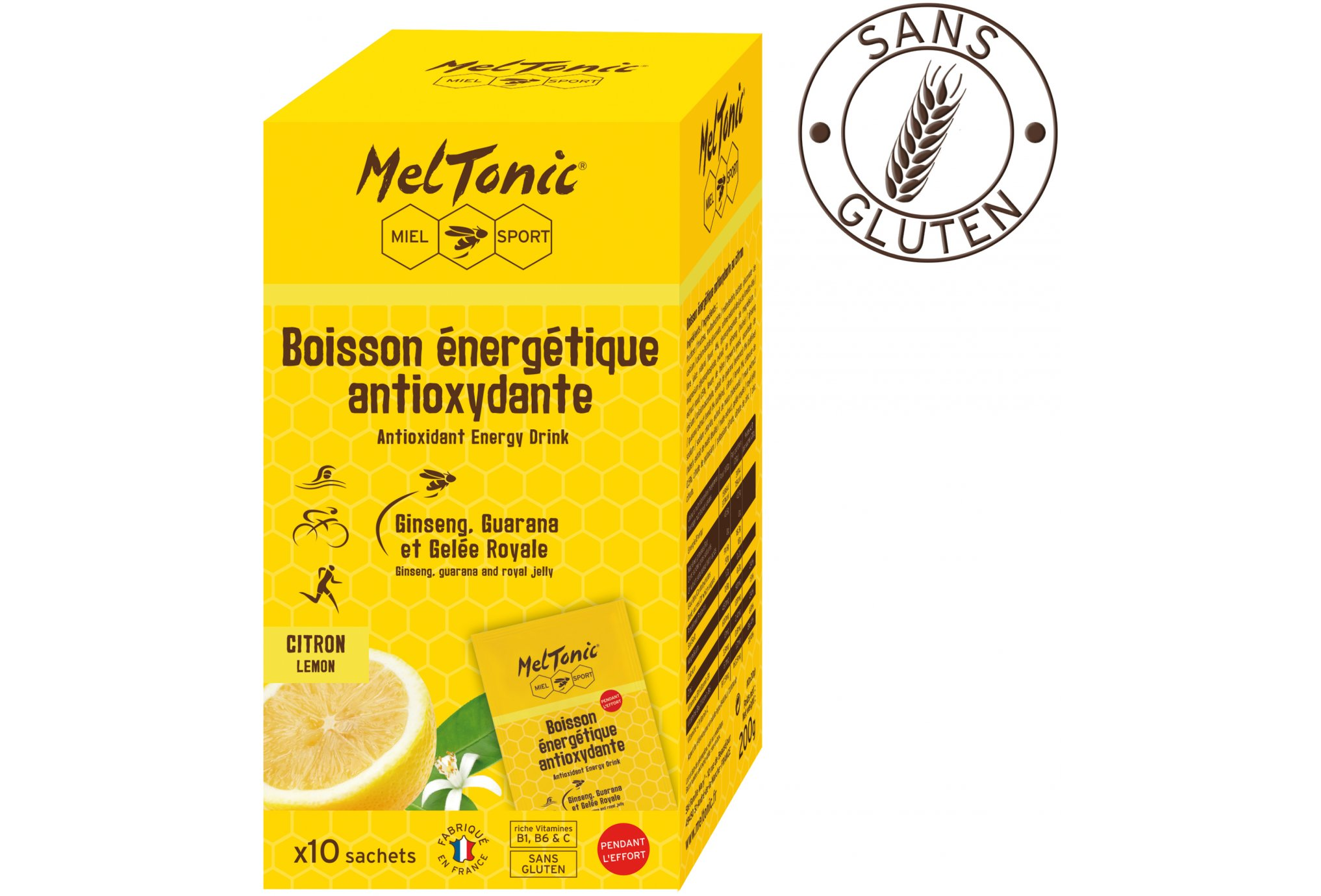 MelTonic Bebebida Energética Antioxidante- Limón Diététique Boissons