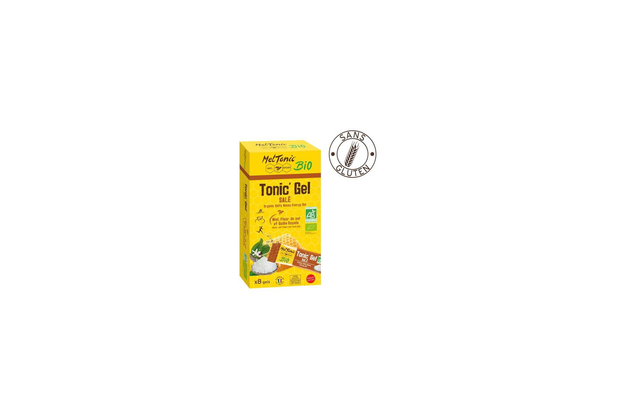 MelTonic Etui Tonic'Gel Salé BIO - Miel Fleur de sel Gelée royale Diététique Gels