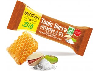 MelTonic Barrita energética de cereales BIO-Pistacho y Flor de sal