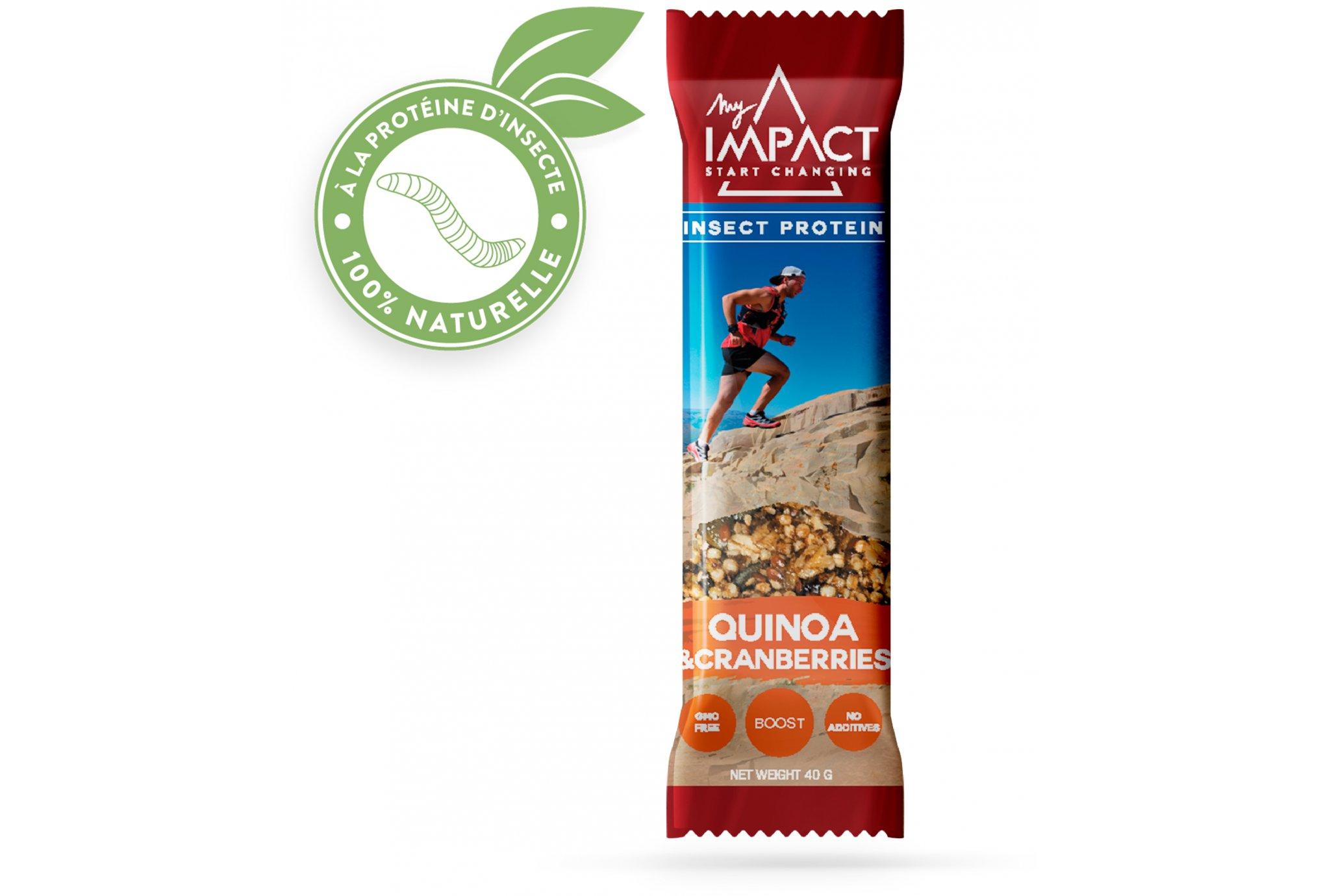 Micronutris - My Impact My Impact - Barre aux insectes / Quinoa et Cranberry Diététique Barres