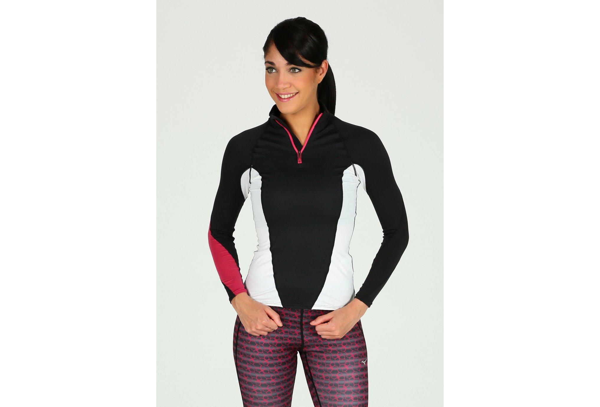 Mizuno Breath Thermo Virtual Body G1 1/2 zip W vêtement running femme