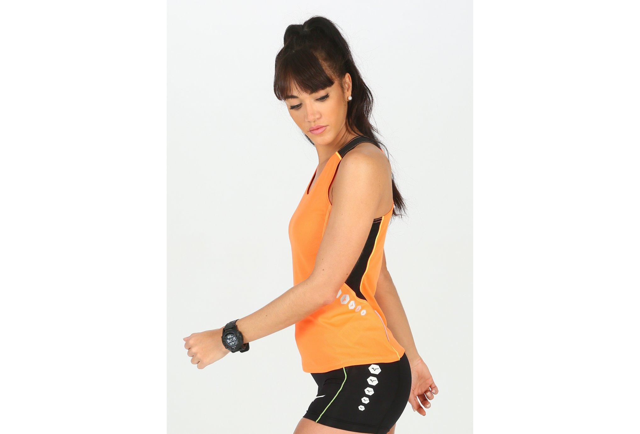 Mizuno Premium Singlet W vêtement running femme
