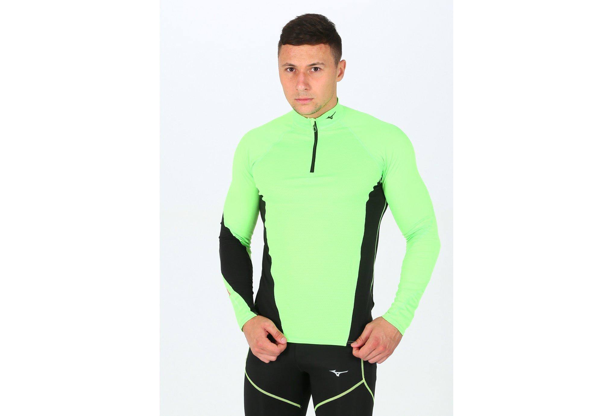 Mizuno Tee-shirt Breath Thermo Virtual Body G1 1/2 zip M Diététique Vêtements homme