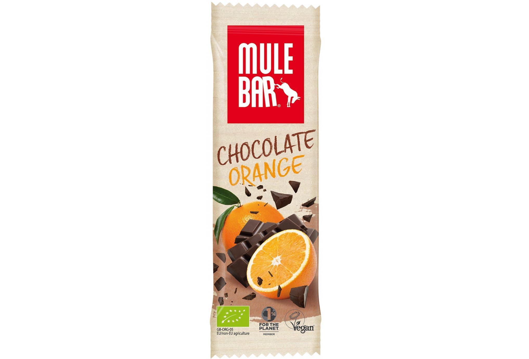 Mulebar Barre énergétique Bio & Vegan - Chocolat/Orange Diététique Barres