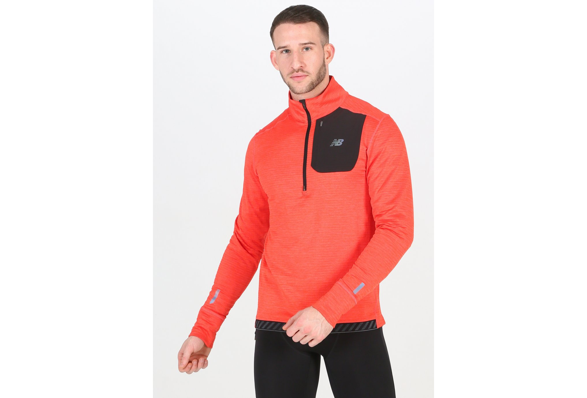 New Balance Heat Quarter 1/2 Zip M vêtement running homme