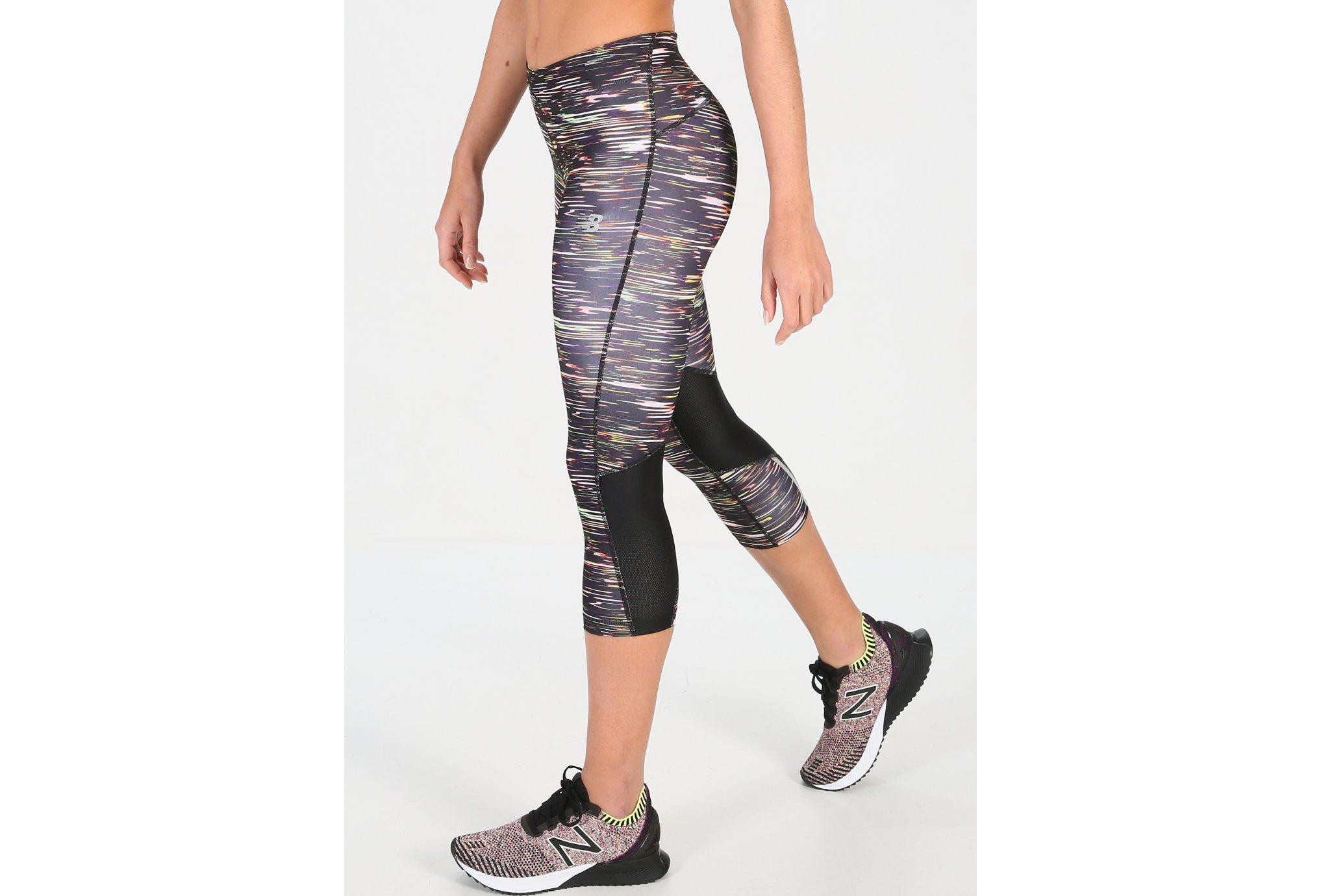 New Balance Impact Capri Print W Diététique Vêtements femme