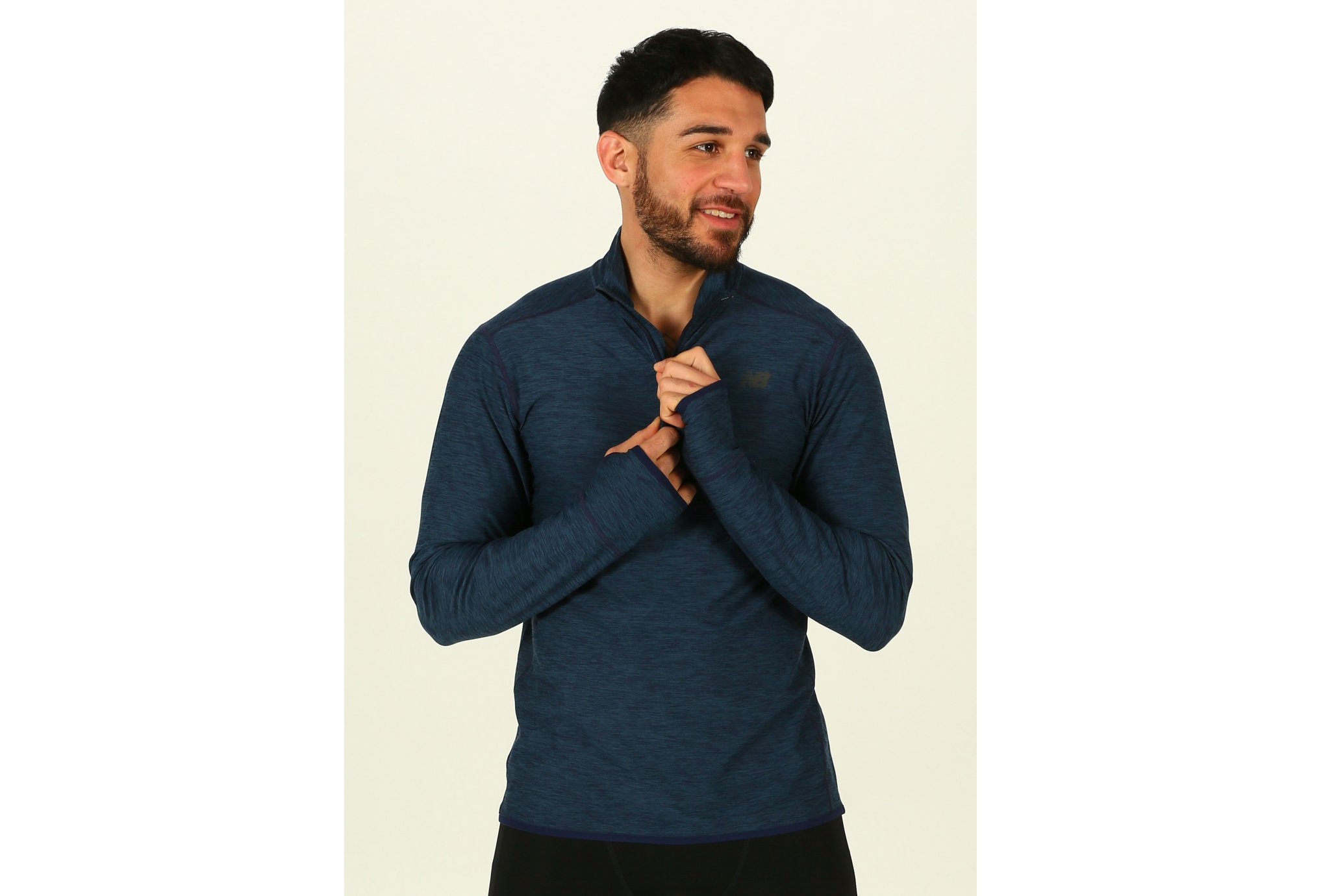 New Balance Transit Quarter Zip M vêtement running homme