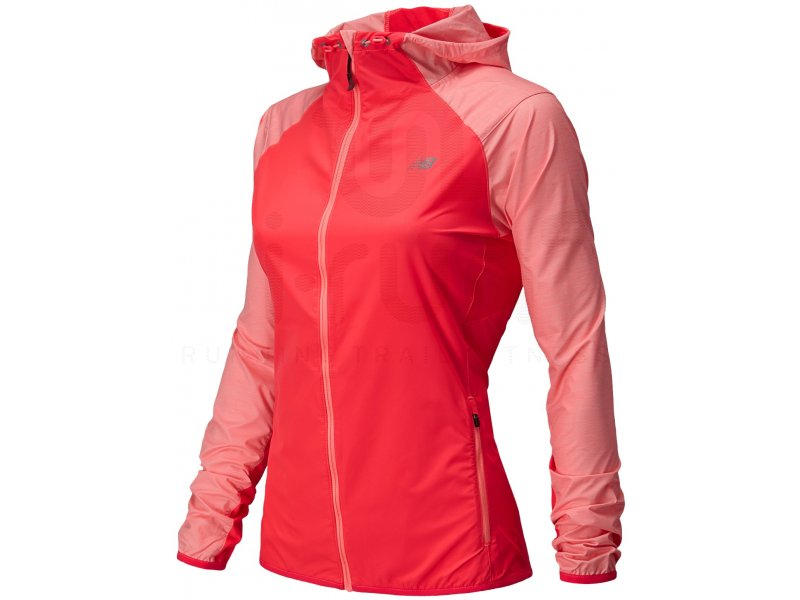 a7e0b5798f0 New Balance Veste Surface Run W femme Rouge pas cher