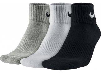Nike 3 pares de calcetines Cushion Quarter