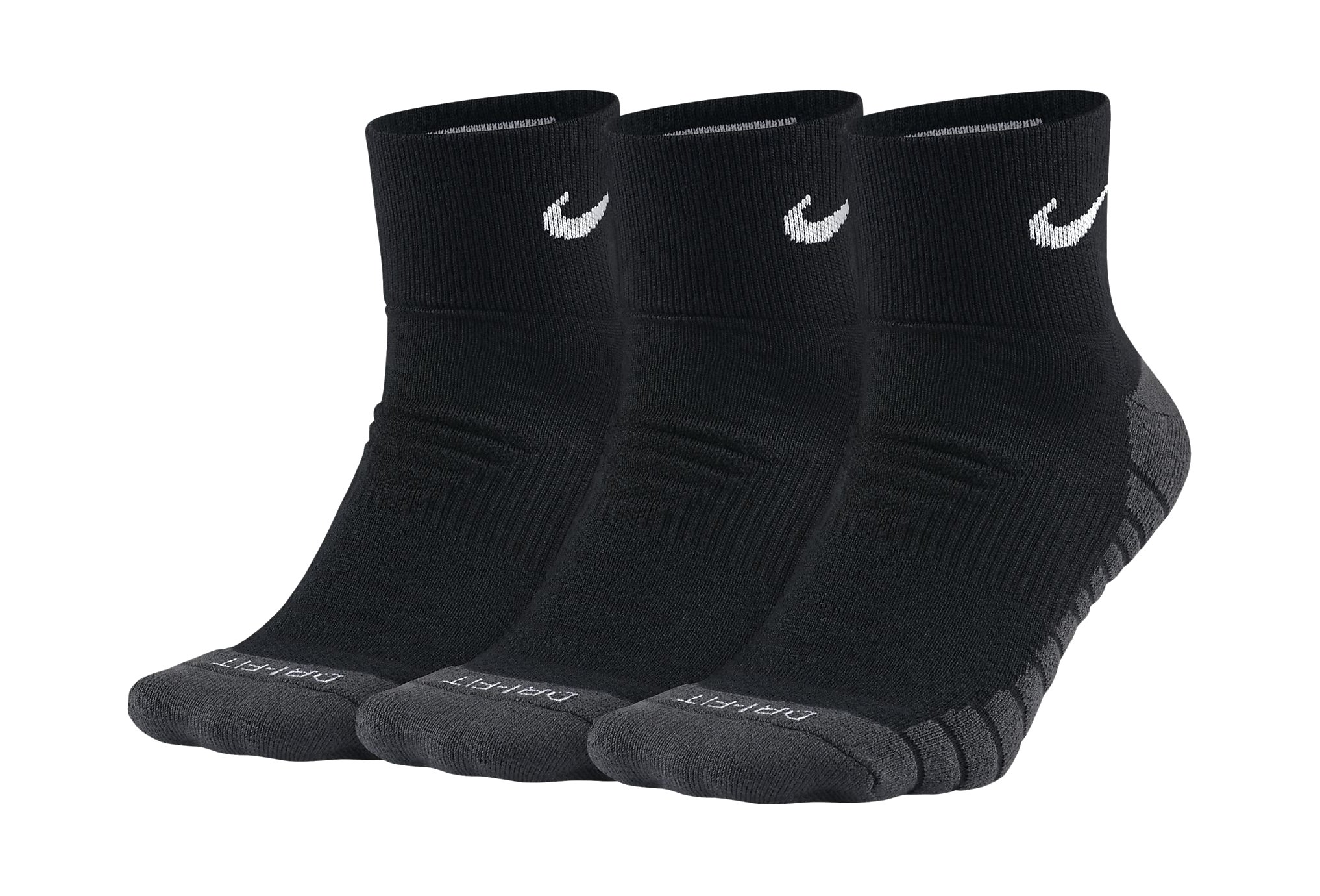 Nike 3 paires Dry Cushion Quarter Chaussettes