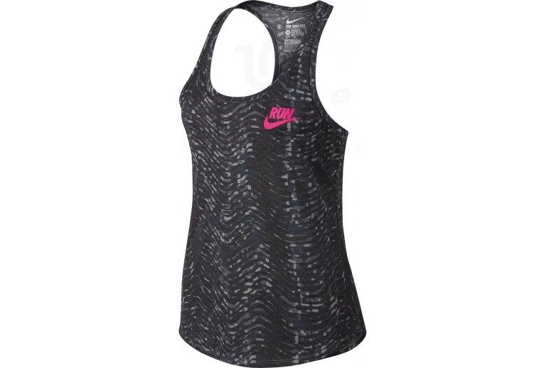 Flow Camiseta De Tie Run Printed Tirantes Nike IY9HWDeE2