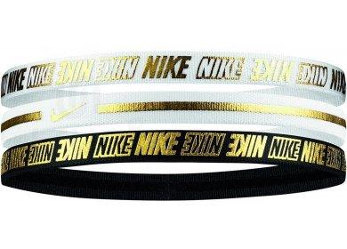 Nike Elastiques Hairband Metallic 2.0 x3