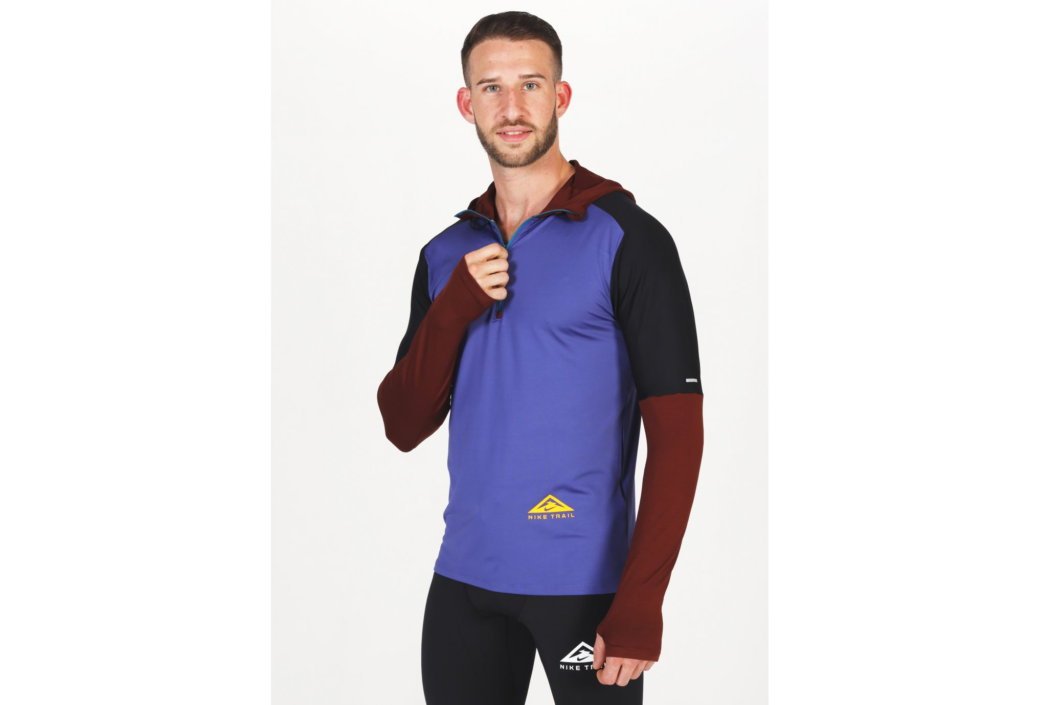Nike Element Trail Hoodie M vêtement running homme