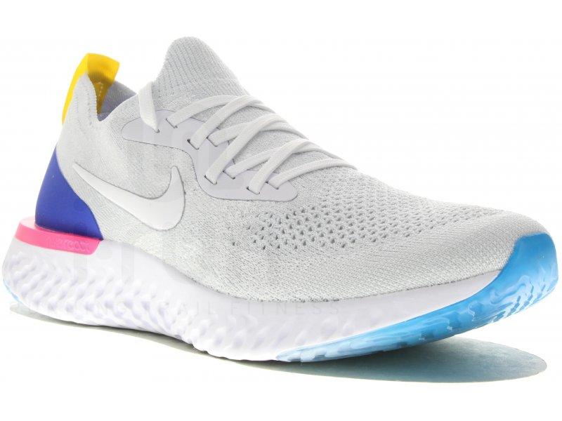 Nike Epic React Flyknit W femme Blanc pas cher