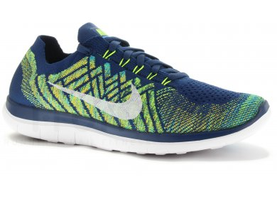 get online buy best buy cheap Nike Free 4.0 Flyknit M homme Bleu pas cher