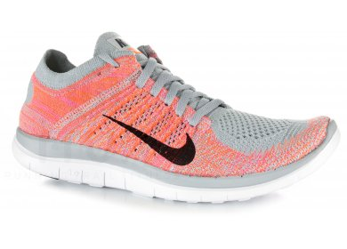 check out 70c0f 6c309 Nike Free 4.0 Flyknit W femme Rouge pas cher