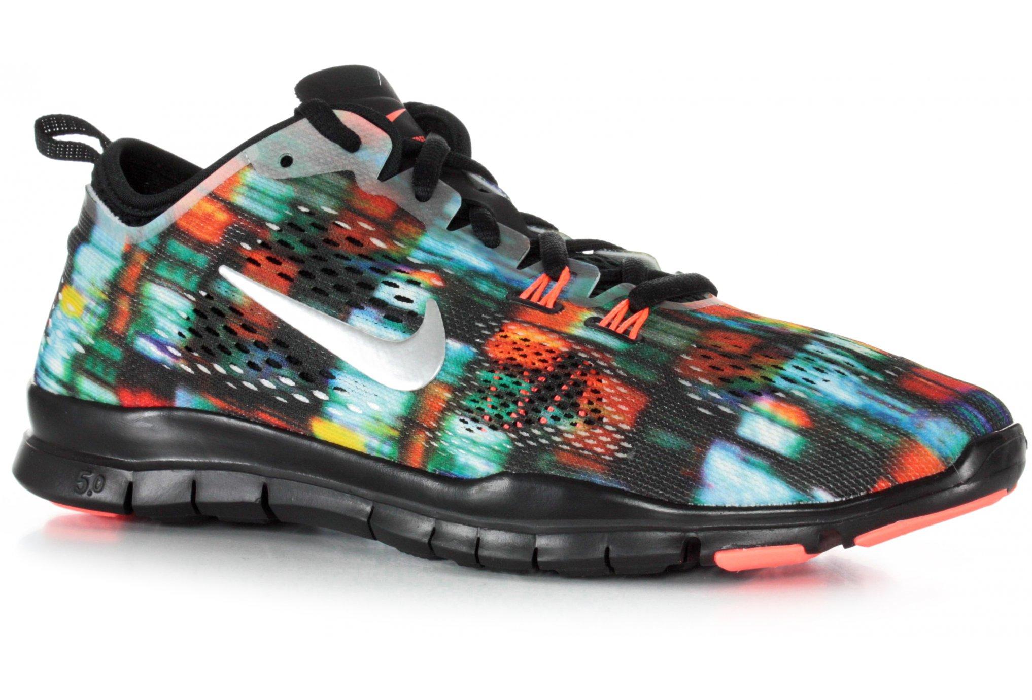 new style 26226 93986 Nike Free 5.0+ TR Fit 4 Print W femme Noir pas cher