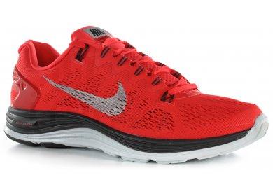 f34874818c9 Nike Lunarglide+ 5 M homme Rouge pas cher