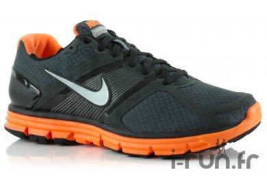 Nike Lunarglide + Noir Et Orange Pas Cher Chaussures Homme Running