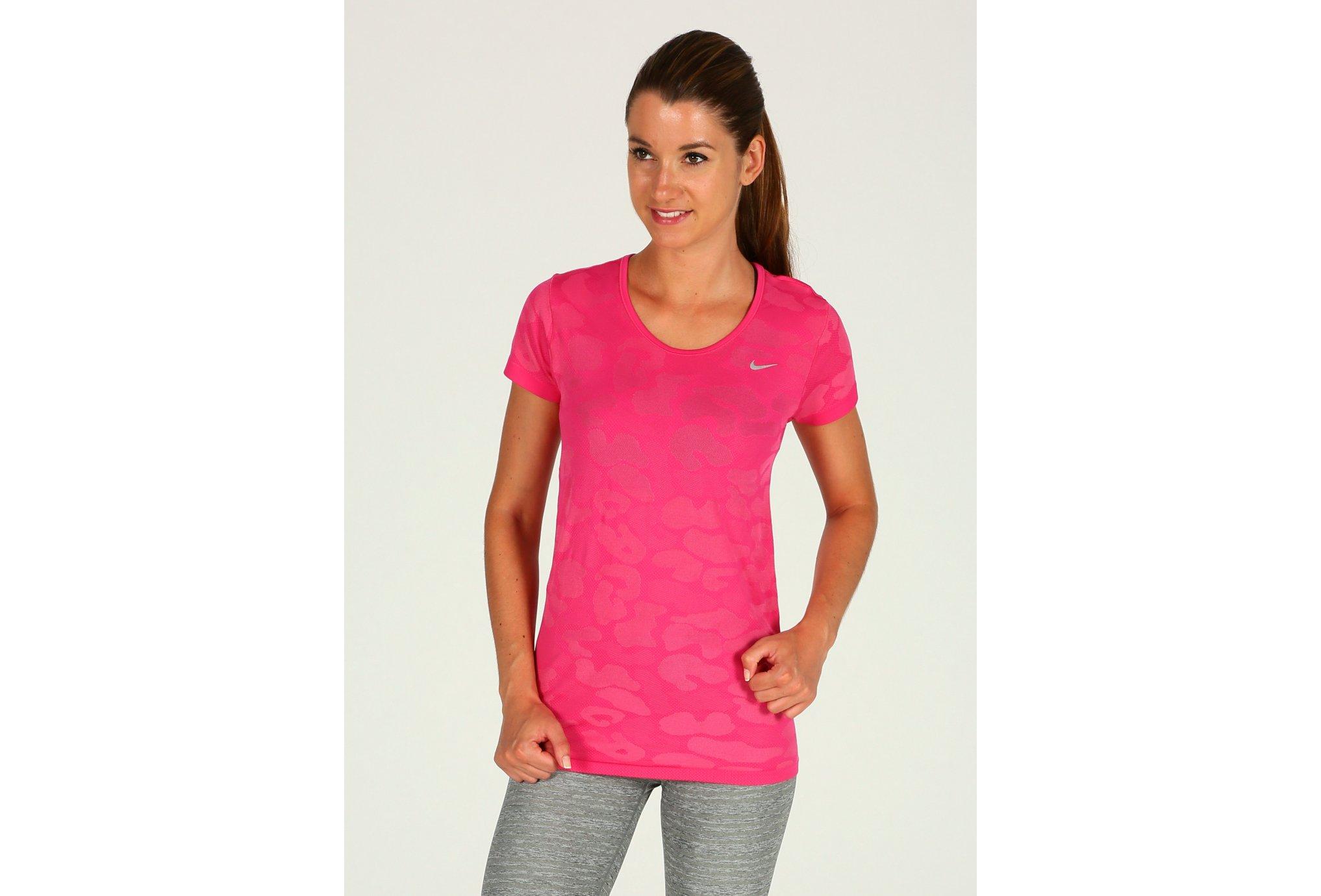 Nike Tee-shirt Dri-Fit Knit Contrast W Diététique Vêtements femme