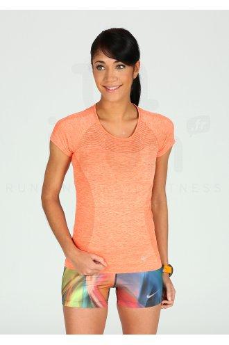 NIKE T Shirt DRI FIT Orange Femme |