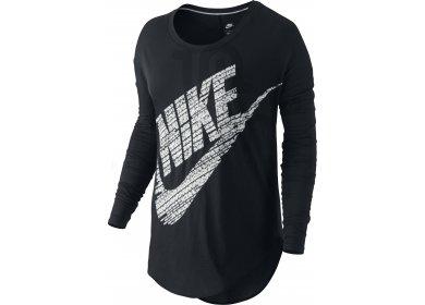 9ce63b163b4c0 Nike Tee-shirt Signal W femme Noir pas cher
