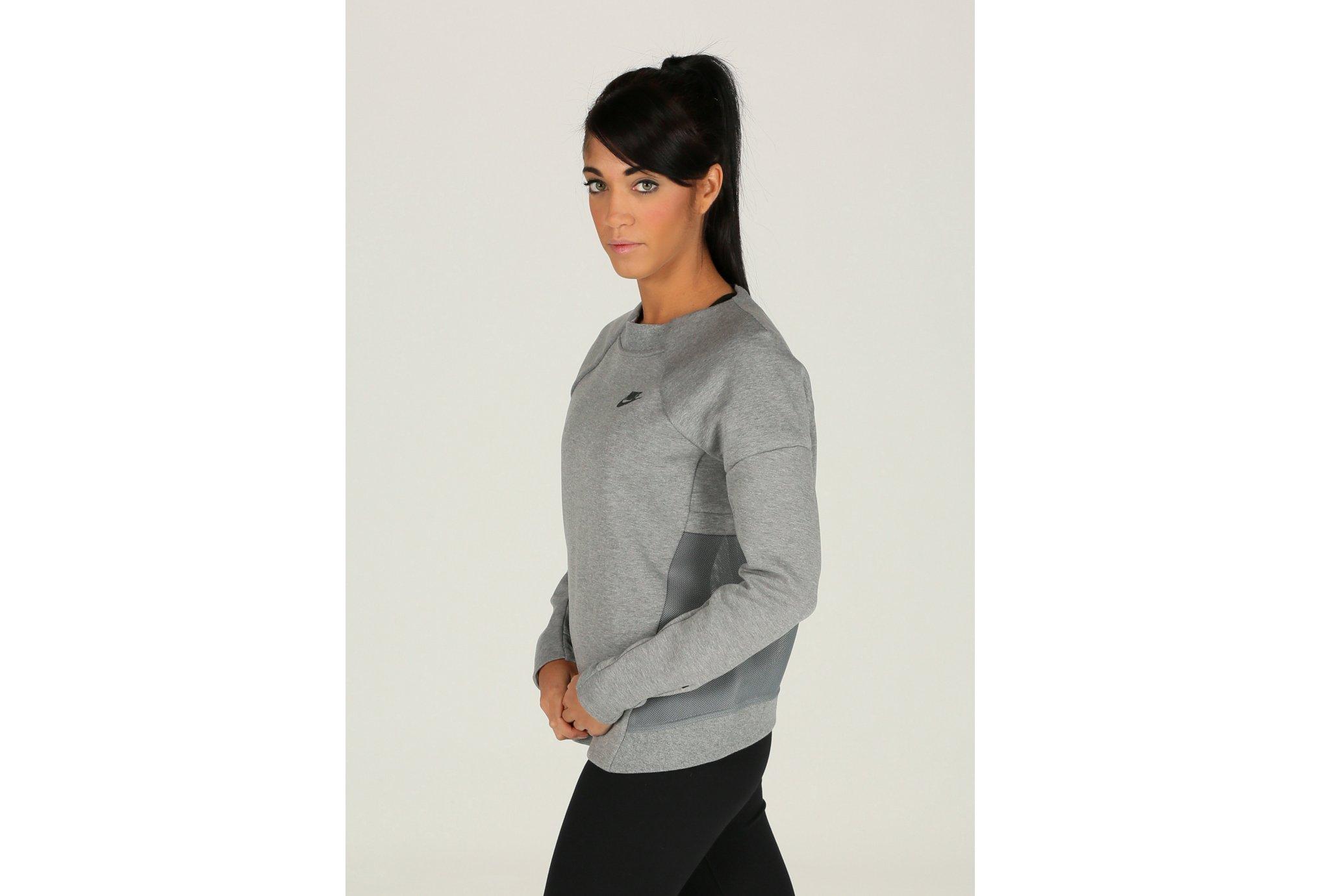 Nike Tee-shirt Tech Fleece Crew Mesh W Diététique Vêtements femme