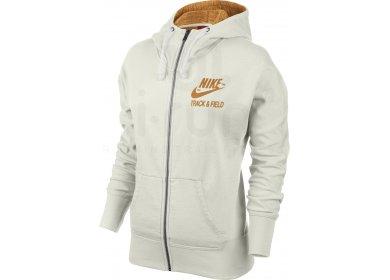 Nike Veste à Capuche RU Track   Field Sunset W pas cher - Destockage ... 66f6fc8fa8fd