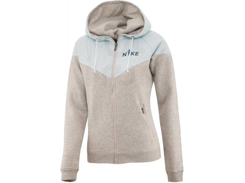 Nike Veste Polaire RU Overlay Fleece W Vêtements femme Manches longues