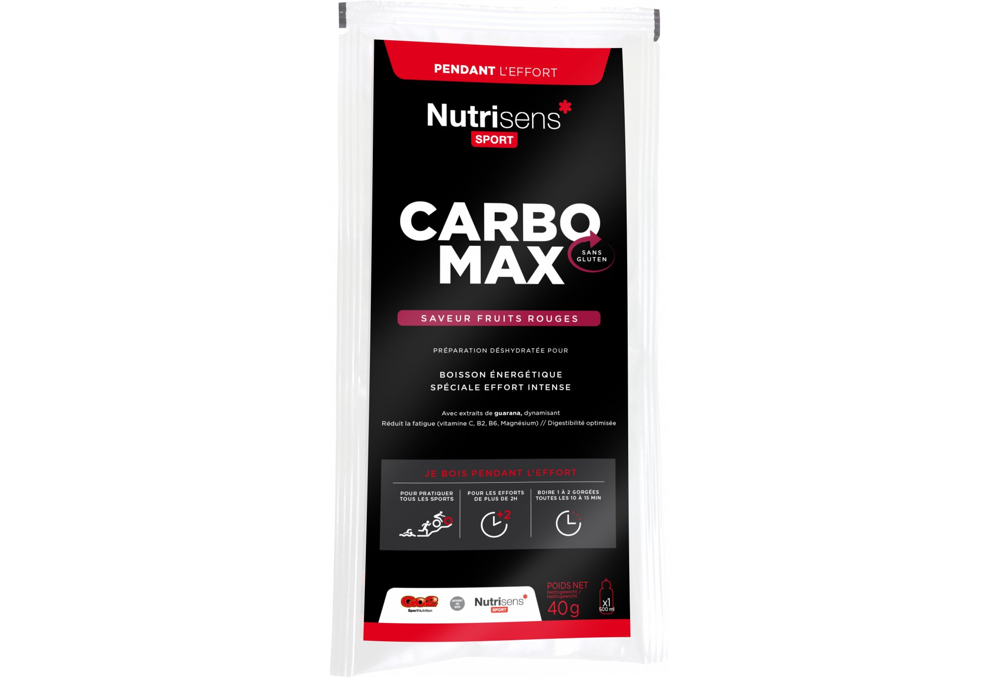 Nutrisens Sport CarboMax - Fruits rouges Diététique Boissons