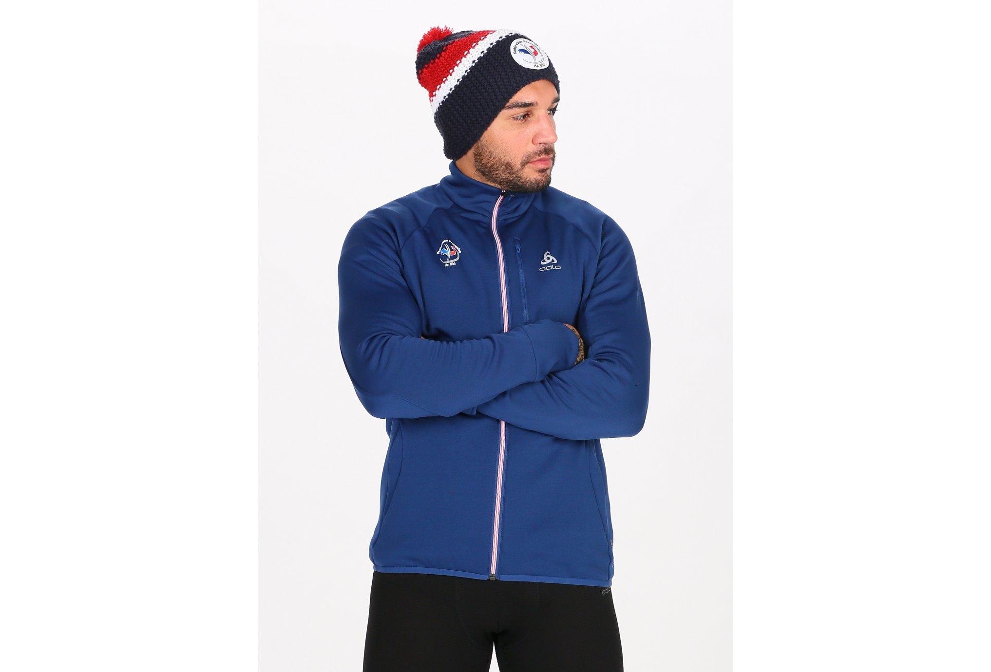Odlo Carve Ceramiwarm Équipe de France de Ski M vêtement running homme