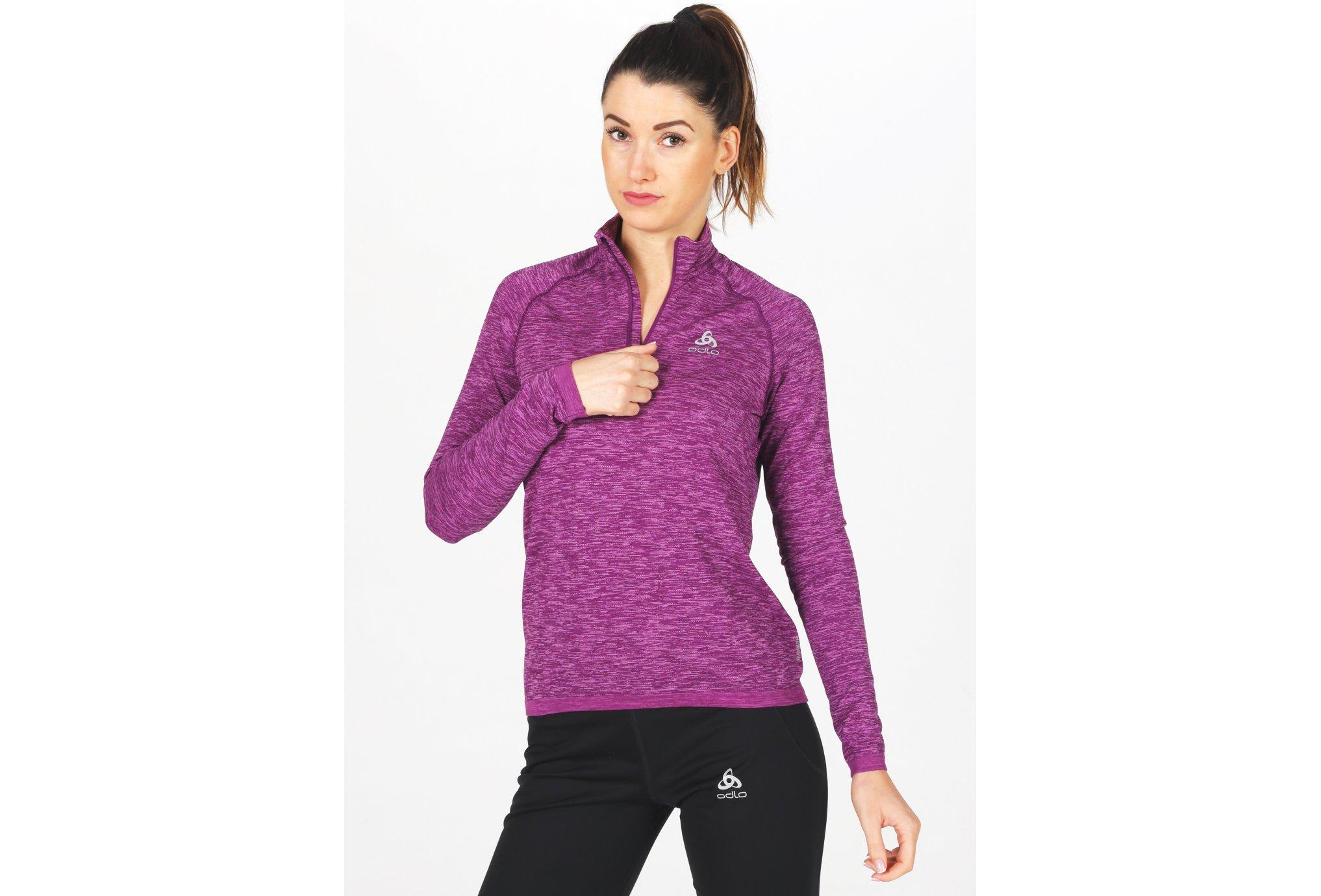 Odlo Millennium Yakwarm 1/2 zip W vêtement running femme