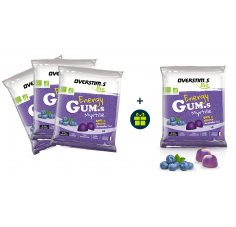 OVERSTIMS 3 Energy Gum.s Bio et 1 offert - Myrtille