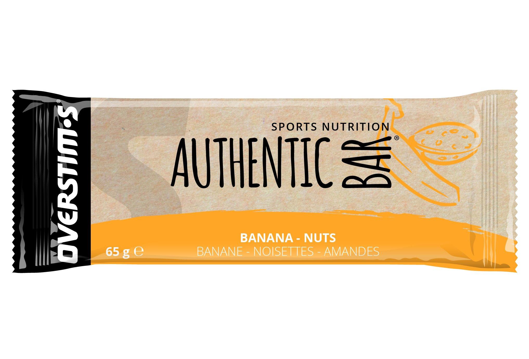 OVERSTIMS Authentic Bar - Banane/noisettes/amandes Diététique Barres
