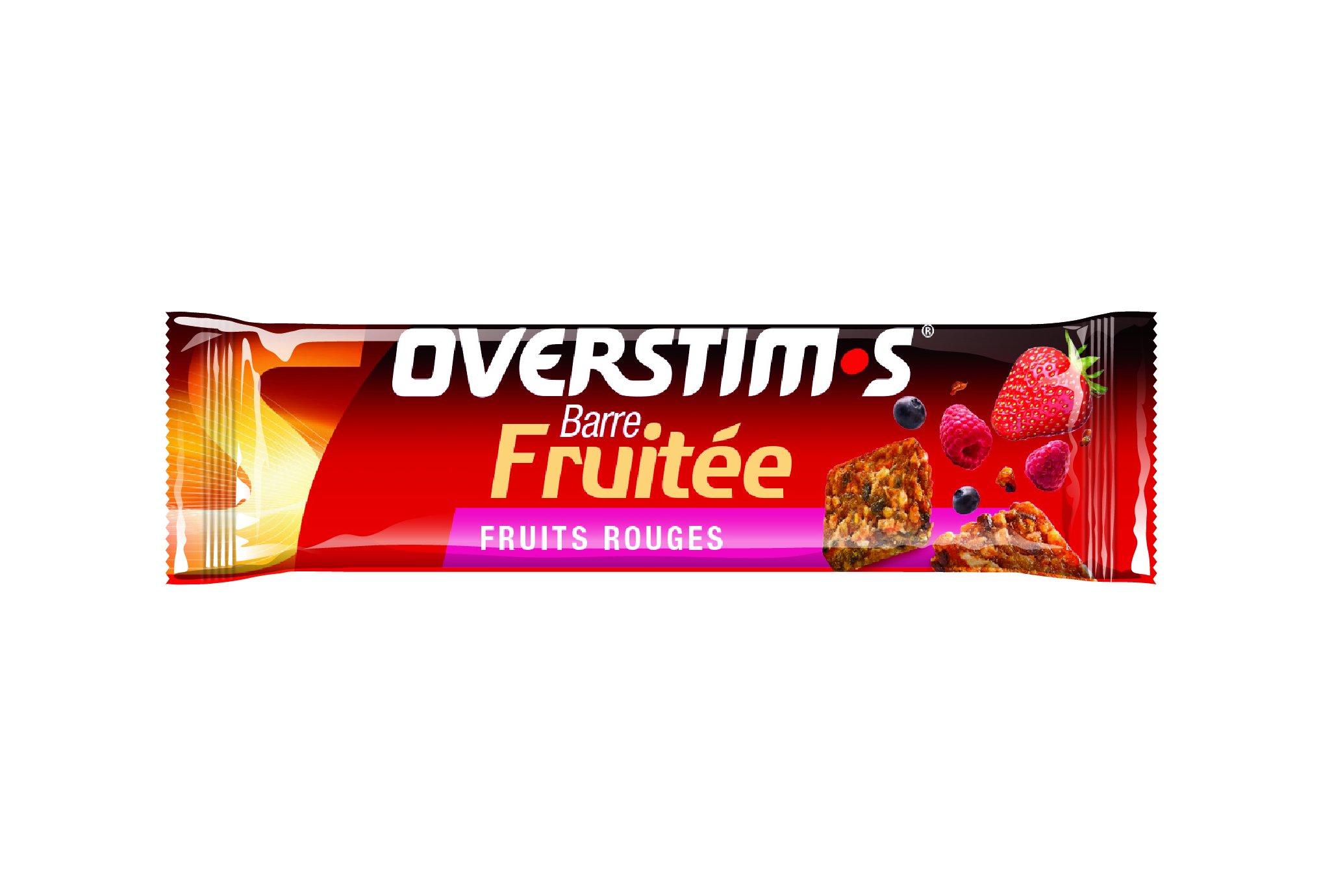 OVERSTIMS Barre Fruitée - Fruits rouges Diététique Barres