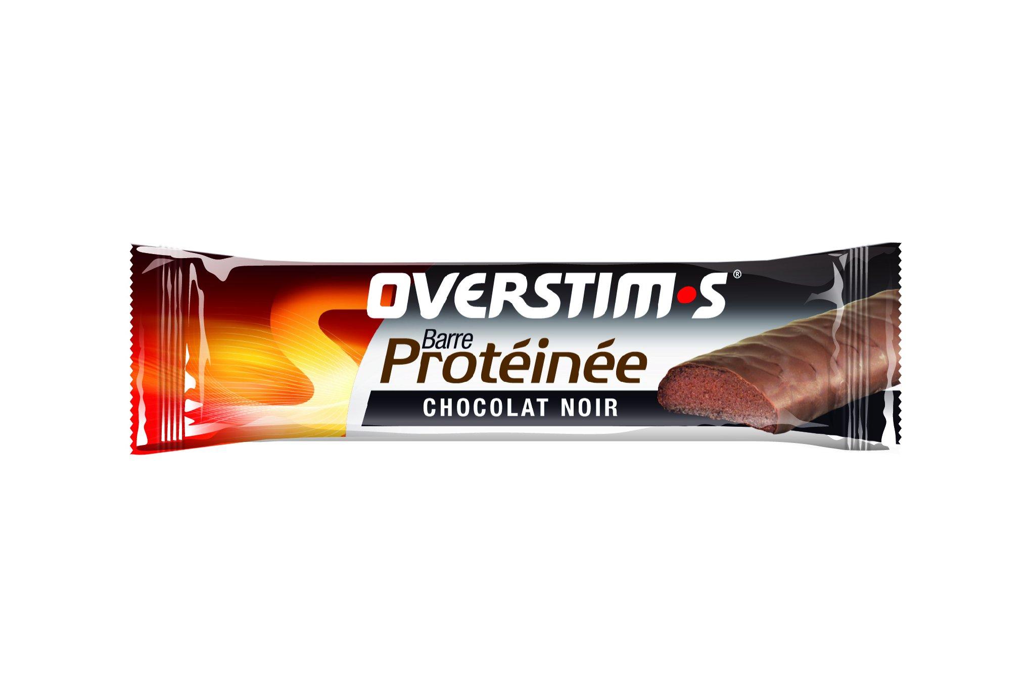 OVERSTIMS Barre Protéinée - chocolat noir Diététique Barres